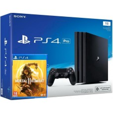 PlayStation 4 Pro Bundle (1 Tb, черный, Mortal Kombat 11), 222247, Консоли